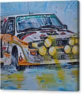 Audi Quattro On The Rocks Canvas Print