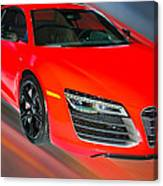 Audi R8 V10 Plus Quattro Coupe 2014 Canvas Print