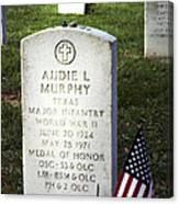 Audie Murphy - Most Decorated Canvas Print