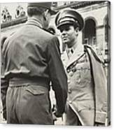Audie Murphy Shaking Hands With French Canvas Print