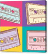 Audio Cassettes Canvas Print