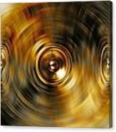 Audio Gold Canvas Print