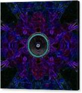 Audio Purple Glow Canvas Print