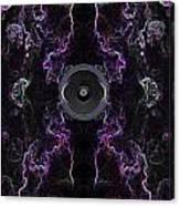 Audio Purple Neon Canvas Print