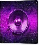 Audio Purple Canvas Print