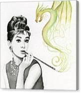 Audrey And Her Magic Dragon Canvas Print