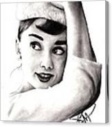 Audrey Hepburn 2 Canvas Print