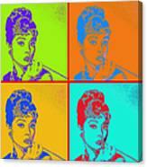 Audrey Hepburn 20130330v2 Four Canvas Print