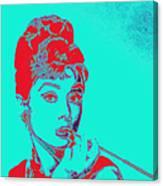 Audrey Hepburn 20130330v2p128 Square Canvas Print