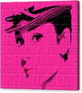 Audrey Hepburn 4 Canvas Print