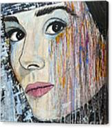 Audrey Hepburn-abstract Canvas Print