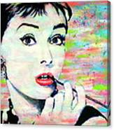 Audrey Hepburn Art Breakfast At Tiffany's Canvas Print