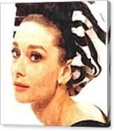 Audrey Hepburn In Watercolor Canvas Print