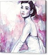 Audrey Hepburn Portrait Canvas Print