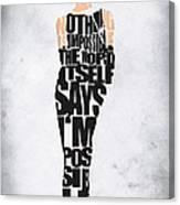 Audrey Hepburn Typography Poster Canvas Print