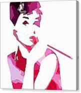Audrey Pop Art Canvas Print