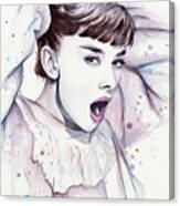 Audrey - Purple Scream Canvas Print