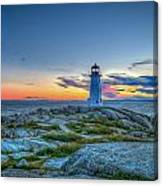 August Sunset At Peggy's Cove 2 Canvas Print