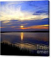 August Sunset Reflection Canvas Print