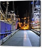 Auke Bay By Night Canvas Print
