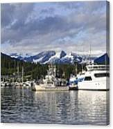 Auke Bay Harbor Canvas Print