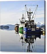 Auke Bay Reflection Canvas Print