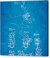 Aull Cigarette Ring Patent Art 1938 Blueprint Canvas Print