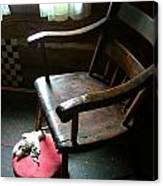 Aunt Tillie's Sewing Chair Canvas Print