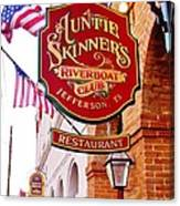 Auntie Skinner's  Riverboat  Club Canvas Print