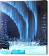 Aurora On The Pond Canvas Print