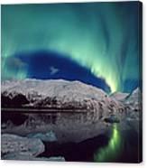 Aurora Over Portage Canvas Print