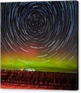 Aurora Startrail  Canvas Print