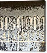 Ausgemustert Sign On Nazi Railway Car Canvas Print