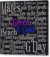 Aussie Lingo Canvas Print