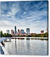 Austin Boardwalk View On Lake Canvas Print