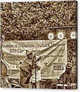 Austin Musicians At Bob Bullock Canvas Print