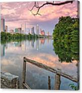 Austin Skyline From Lou Neff Point Canvas Print