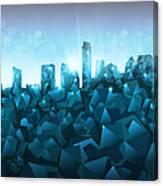 Austin Skyline Geometry 3 Canvas Print