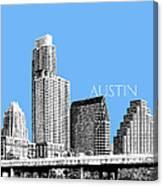 Austin Skyline - Sky Blue Canvas Print