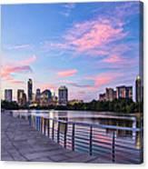 Austin Skyline At Sunset Canvas Print
