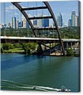 Austin Texas 360 Bridge Vert Canvas Print