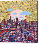 Austin Texas Abstract Panorama 2 Canvas Print