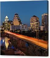 Austin, Texas Cityscape Evening Skyline Canvas Print