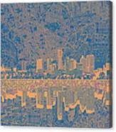 Austin Texas Skyline 2 Canvas Print