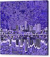 Austin Texas Skyline 4 Canvas Print