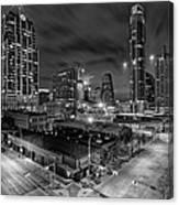 Austin Texas Skyline Get Out The Crane Construction Time Again Canvas Print
