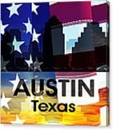 Austin Tx Patriotic Large Cityscape Canvas Print