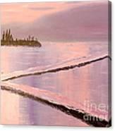 Austinmer Pool At Sunset Canvas Print