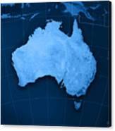 Australia Topographic Map Canvas Print