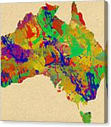 Australia Watercolor   Canvas Print